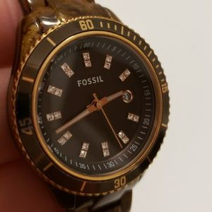 Fossil Watch with Diamond accents